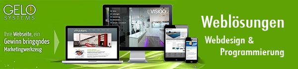 Firma GELO Systems Weblösungen - Ihr Anbieter für professionelle und moderne Weblösungen, Ihr Partner für die Erstellung und Programmierung von günstigen Homepages und preiswerten Webseiten, einfach selbstwartbare CMS Webseiten und von suchmaschinenoptimierten Homepages und Webseiten.